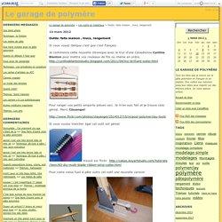 Outils: faits maison , trucs, rangement - Le garage de polymère
