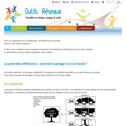 Outils-Réseaux : ContenuCooperationCollaboration