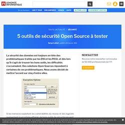 5 outils de sécurité Open Source à tester