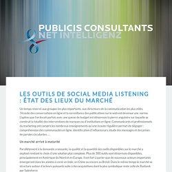 Les outils de social media listening : état des...