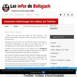Outils en ligne pour télécharger les vidéos sur Twitter