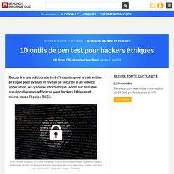 10 outils de pen test pour hackers éthiques