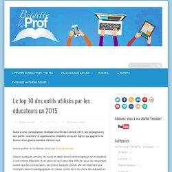 Le top 10 des outils utilisés par les éducateurs en 2015 -