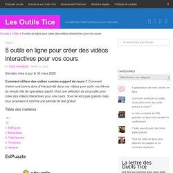 5 outils en ligne pour créer des vidéos interactives pour vos cours