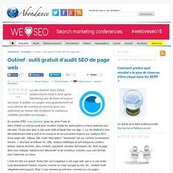 Outiref : outil gratuit d'audit SEO de page web