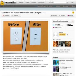 Outlets of the Future aka in-wall USB Charger - StumbleUpon