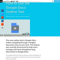 How to Use the Google Docs Outline Tool - BetterCloud Monitor