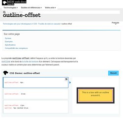 outline-offset - CSS : Feuilles de style en cascade