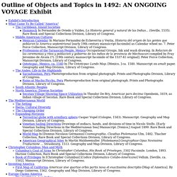 Outline of Objects and Topics in 1492:AN ONGOING VOYAGE Exhibit