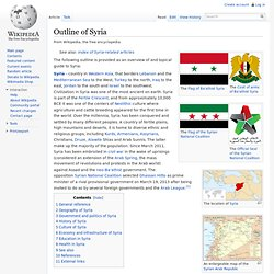 Outline of Syria