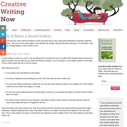Easy Novel Outline – Free Writing Lessons and Worksheets