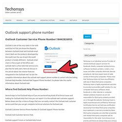 Outlook help 18442826955 Outlook mail support phone number