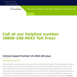Outlook Contact Number UK 0808-168-9042