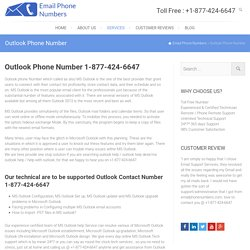 Outlook Contact Phone Number 1-877-424-6647 toll free