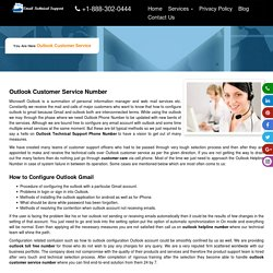 Outlook Customer Service Helpline Toll Free