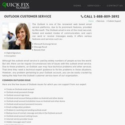 Outlook customer service care phone number