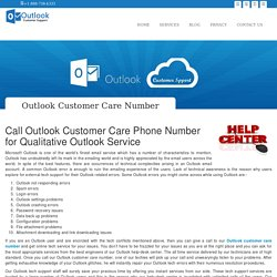 Outlook Customer Care Phone Number - 1-888-738-4333