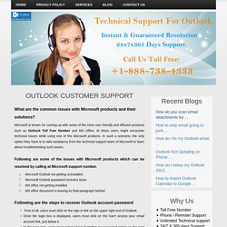 Outlook Toll Free Customer 1-888-738-4333 Support Service Number