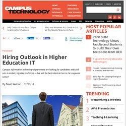 Hiring Outlook in Higher Education IT