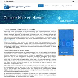 Outlook Helpline 1-844-780-6751 Toll Free