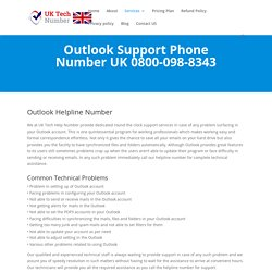 Outlook Helpline Number 0800-098-8343 Outlook Support Number