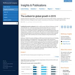 The outlook for global growth in 2015