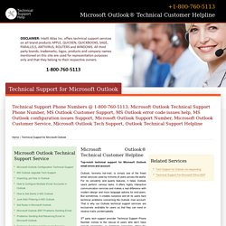 Outlook Support Number-800-760-5113-Microsoft Outlook Help