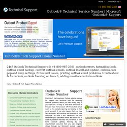 Outlook Support Phone Number 800-987-2301,Outlook
