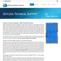 Outlook Technical Support 1-888-738-4333 Customer Service Number