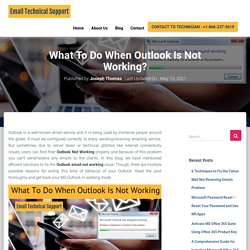 Get instant support for outlook not working issue