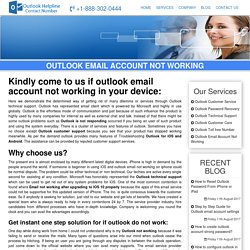 Outlook Not Working Support Phone Number - 1-888-738-4333