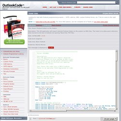 Export Outlook Folders to File Folders