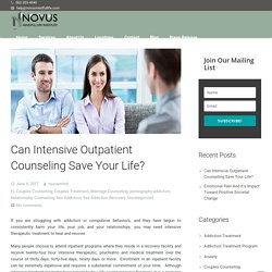 Can Intensive Outpatient Counseling Save Your Life?
