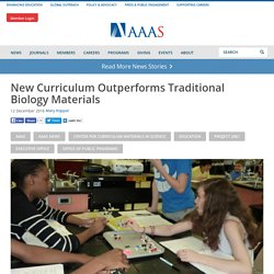 New Curriculum Outperforms Traditional Biology Materials
