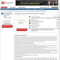 Le Cabinet d'Outplacement MOTIVIA Consultants - Paris 12ème - PARIS 12EME ARR sur ICI Formation