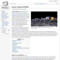 Lunar outpost (NASA)