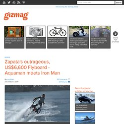 Zapatas outrageous, US&36;6,600 Flyboard - Aquaman meets Iron Man -...