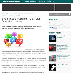 Social media outranks TV as UK's favourite pastime