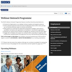 Webinar Outreach Programme