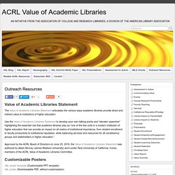 ACRL Value of Academic Libraries Statement