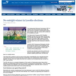No outright winner in Lesotho elections:Tuesday 3 March 2015