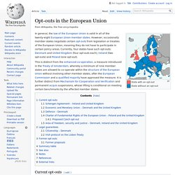 Opt-outs in the European Union - Wikipedia