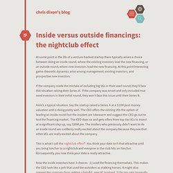 Inside versus outside financings: the nightclub effect cdixon.or