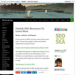 Outside SEO Resources