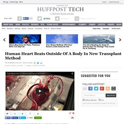 Human Heart Beats Outside Of A Body In New Transplant Method
