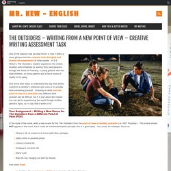 The Outsiders – Writing from a New Point of View – Creative Writing Assessment Task