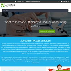 Outsourcing Accounts Payable - Accounting To Taxes