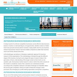 Multi business research services